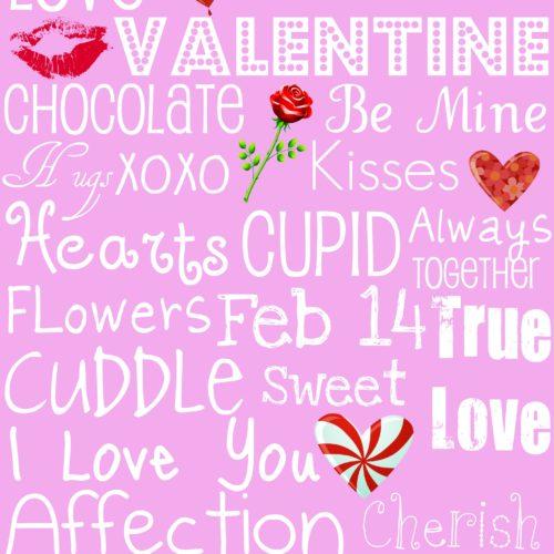 Valentine's Day Subway Art